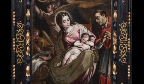 Madonna con bambino e San Carlo