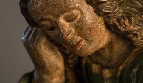 Dettaglio di San Giovanni dormiente