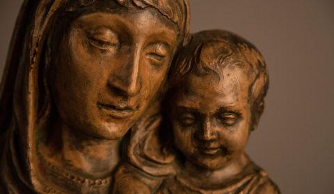 Dettaglio di Madonna con bambino