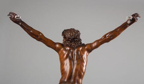 Dettaglio di Cristo in bosso