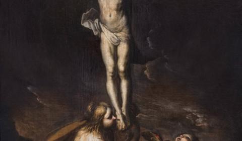 Crocifissione Cerano con Maddalena e putto