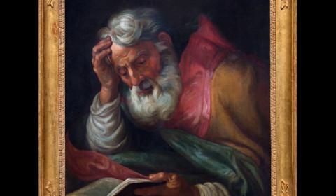Dottore della Chiesa con cornice