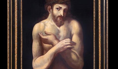 Ecce homo di Cifrondi con cornice