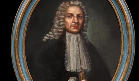 Ritratto di gentiluomo bergamasco con cornice