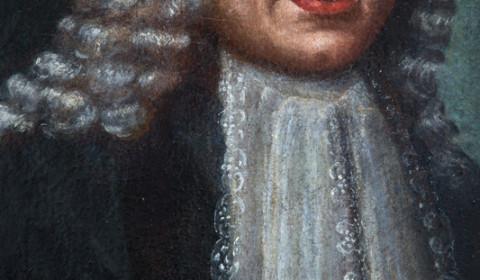 Dettaglio del ritratto di gentiluomo bergamasco