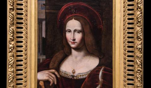 Ritratto di Giovanna d'Aragona con cornice